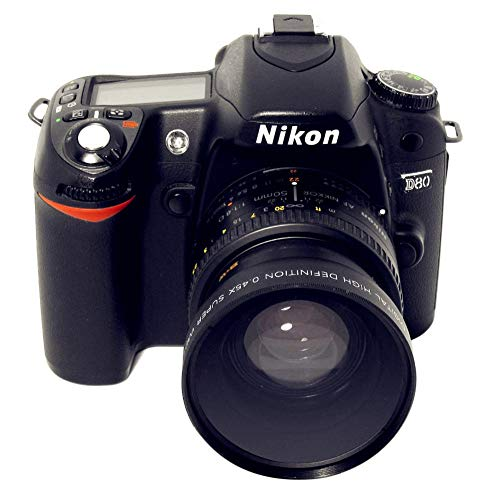 SSSabsir 0.45x 52mm Wide Angle Macro Combination Wide-Angle Lens for Nikon, Canon, Sony