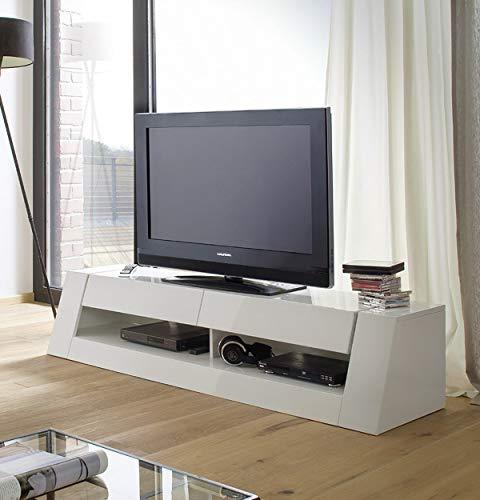 TV Board Front 1 Lowboard HiFi Media Möbel weiß Hochglanz lackiert 175 cm breit