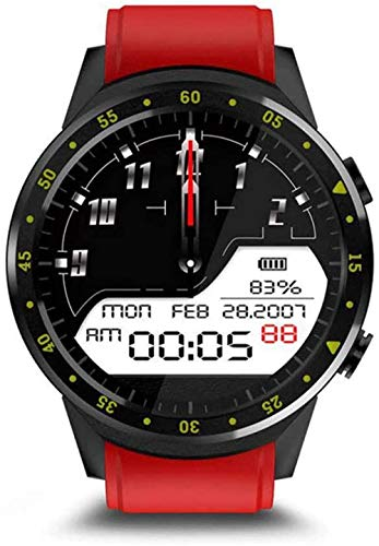 Smart Watch Activity Tracker Multi-Sport Mode With Heart Rate Monitor Fitness Tracker With Stepper/Calorie/Distance Counter Pedometer Gps Android Ios (Black)-Red