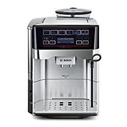 Bosch TES60759DE Coffee Machine VeroAroma 700 OneTouch Preparation / Double Cup (1500 W, 1,7 L, 19 bar, Cappuccinatore) stainless steel