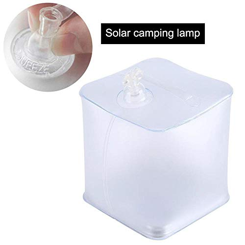 Volwco - Lampada Solare Gonfiabile Quadrata, IP68, Impermeabile, Ideale per Campeggio, Escursionismo, Caccia, Kit di Emergenza e Viaggi