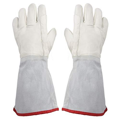 40 cm långa kryogeniska handskar vattentäta skyddande arbetshandskar LNG flytande kväve frysta handskar kall förvaring Cryo säkerhetsarbete handske