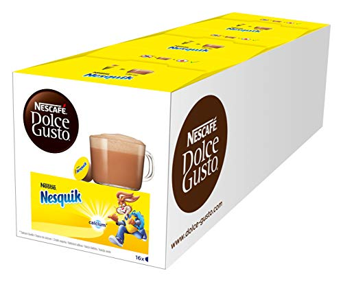 NESCAFÉ Dolce Gusto Nesquik, Pack de 3 x 16 Cápsulas - Tot