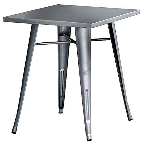 PEGANE Table en tôle galvanisée Coloris Gris foncé - Dim : 40 x 60 x H.73 cm -A Usage Professionnel