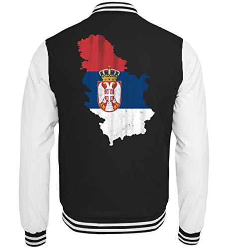 Serbien Srbija Fussball Nationalmannschaft Soccer Flagge Serbisches Trikot Landkarte - College Sweatjacke