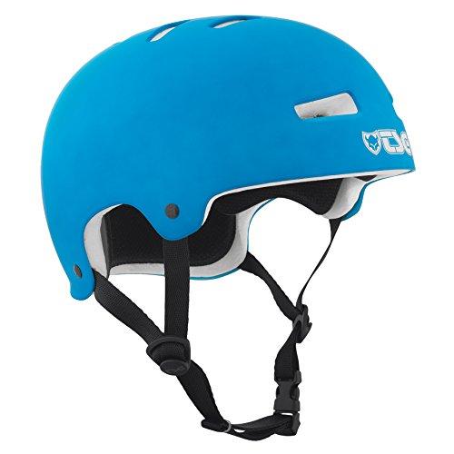 TSG Helm Evolution Solid Color, Blau (Flat Cyan), L/XL, 75046