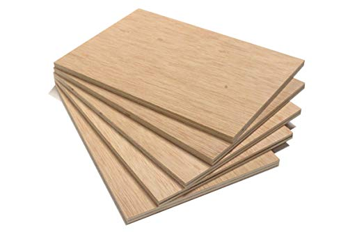 Chely Intermarket tablero madera contrachapado de 40x60 cm/10 mm-grosor/1 tablero/, chapas de abedul lijados. Especial para cortes con láser, CNC, Pirograbado y Calado. Grosor(556-40x60-1)