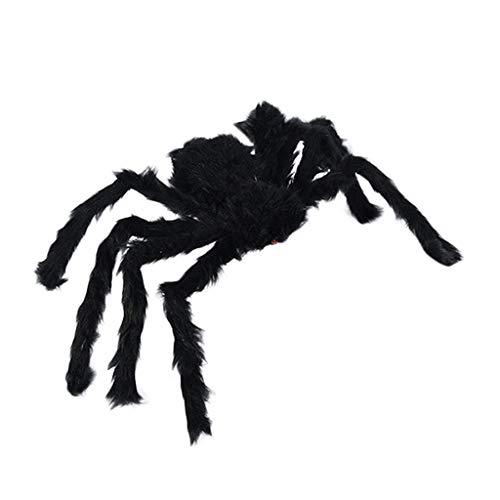 UOWEG Spinne Riesenspinne Plüsch Halloween Horror Deko Biegbar Spinnennetz Schwarze Und Farbspinne Spinngewebe Dekoration Party Gartendekoration Riesen Tarantula Schwarz