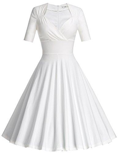 MUXXN Women's Vintage Style 1940s Knee Length Wedding...
