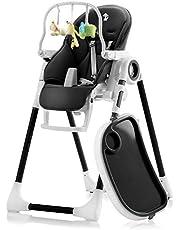 Sweety Fox - Baby, växande barnstol, justerbar och vikbar med lekbåge – 7 höjder, ryggstöd barn 5 positioner, avtagbar bricka, knäppbar tallrik, barnstol