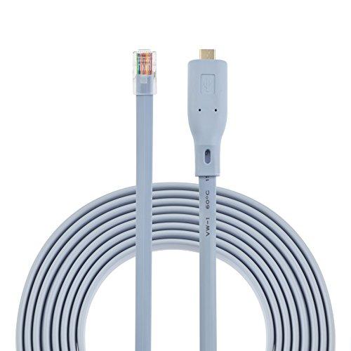 AGS Retail - Cable de consola USB C a RJ45 con RS232...