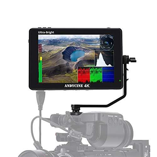 ANDYCINE C7S 7-Zoll-Touchscreen-Monitor mit 2200 Nits & 3G-SDI 4K-HDMI-Eingangskamera mit 3D-Lut-Wellenform Vectorscrop 1920x1200 IPS-Panel