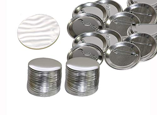 100 Pck - 2.25 inch ONLY for BAM Machines Pin Buttons - Generic Compatible with Badge A Minit 2 1/4' (57 mm)