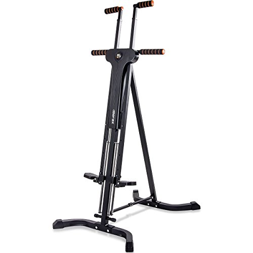 Merax Vertical Climber Fitness Climbing Cardio Machine Full Total Body Workout Fitness Folding Climber 2.0 (Black)