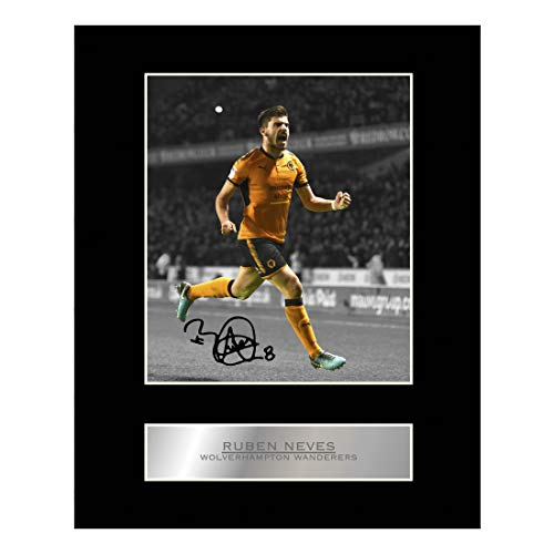 Ruben Neves Signed Mounted Photo Display Wolverhampton Wanderers Autographed Gift Picture Print