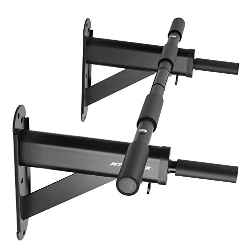 Fitleader FC3 Wall Mounted to 24' on-center Stud Upper Body Heavy Duty Pull Up Chin Up Bar Black
