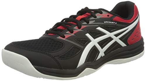 ASICS Mens Upcourt 4 Volleyball Shoe, Black/White,43.5 EU