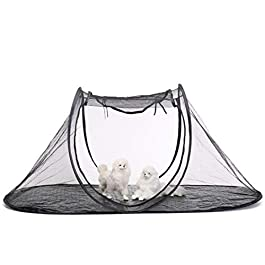 CZWYF Dog Cage Collapsible Storage Outdoor Pet Tent Cats And Dogs Travel Outdoor Pet Cage – Indoor And Outdoor Universal