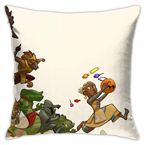 Yuanmeiju Game Pumpkin Guild Wars Trilogy Halloween Fundas de Almohada 18 X 18 Inch, Pillow Case Modern Cushion Cover Square Pillowcase Decoration.