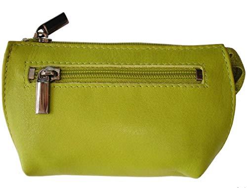 Josephine Osthoff Handtaschen-Manufaktur Leder Schlüsseletui Maxx Limone mit RFID 2 Ringe an Kettchen Kartenfach 964/59