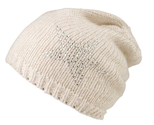 CODELLO Mütze mit Strasssternen Weiß