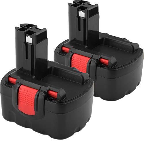2X Shentec 14.4V 3.5Ah Ni-MH Batería para Bosch BAT038 BAT040 BAT041 BAT140 BAT159 2607335275 2607335276 2607335533 2607335534 2607335465 2607335678 2607335685 2607335711
