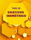 Papel de Gráficos Isométrico: Carta Isométrico │ Dibuja tus Propios Diseños Geométricos en 3D, Esculturas o Paisajes! │ Carta Isometrica per Progetti ... de Retícula │ Disegno Isometrico