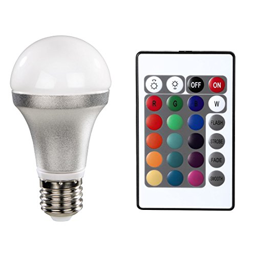 Xavax LED-Lampe, E27, 4,5 W, Glühlampenform, Multicolor mit Fernbedienung