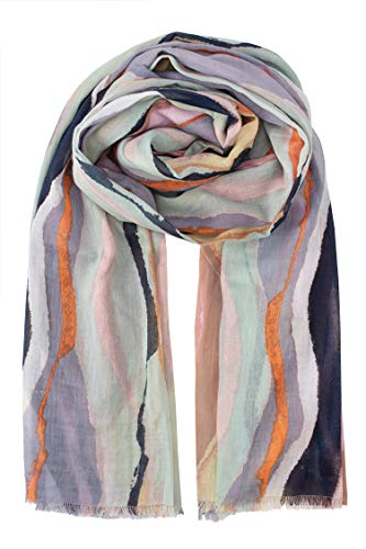 Becksöndergaard Damen Schal Tie Dye Multi Color Organic Halstuch Mehrfarbig Bio Baumwolle 100x200 cm - 2001619001-018