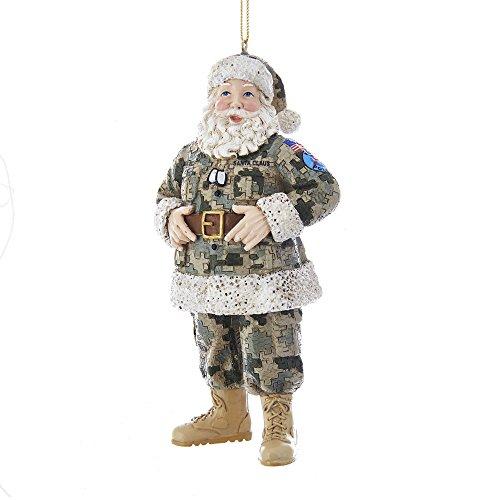 Kurt Adler 5.25-Inch Camouflage Military Santa Ornament Adorno