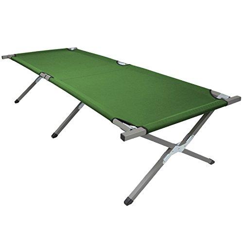 BB Sport Brandina da Campeggio Letto da Campo Pieghevole 210 x 72 x 45 cm, Colore:Green