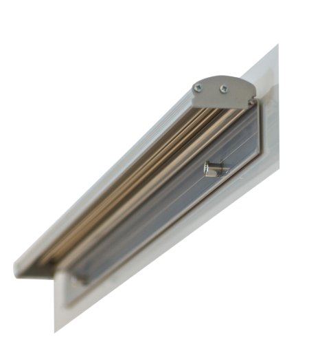 Franken FDKMAG Flipchart Blockhalter magnetisch, 5.5 x 70 cm, silber
