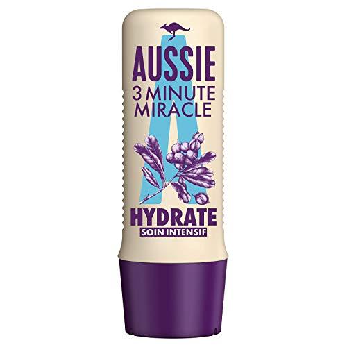 Aussie, 3 minutos Miracle hidrata, cuidado intensivo, para cabello seco, limpia e hidrata el cabello y el cuero cabelludo, con aceite de macadamia, 250 ml