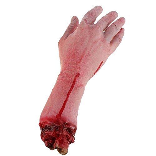 Realistische blutrünstige Latex-Hand mit Arm; gruselige K?rperteile, für Halloween, für Partys, drinnen und drau?en, Requisite und Dekoration für Kostümspiele, von BeautyLife?