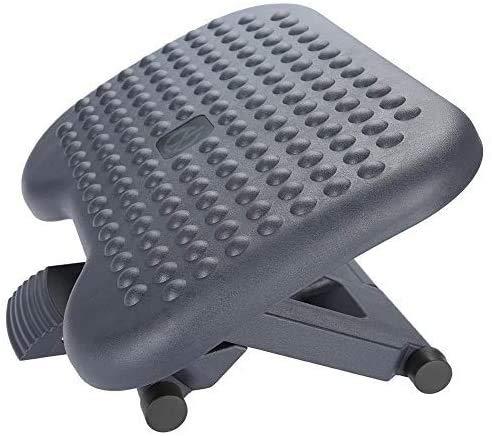 Adjustable Massage Foot Rest,Comfort Ergonomic Exercising Footrest for Home, Office, Under Desk Support With Foot Massager