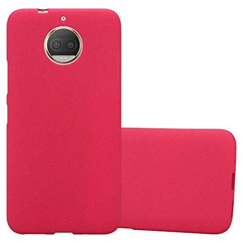 Cadorabo Funda para Motorola Moto G5S Plus en Frost Rojo - Cubierta Proteccíon de Silicona TPU Delgada e Flexible con Antichoque - Gel Case Cover Carcasa Ligera