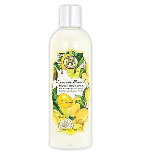 Michel Design Works Moisturizing Shea Butter Shower Body Wash, Lemon Basil,
