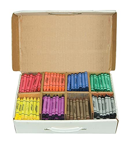 Prang Crayons Master Pack, Large Size, 8 Assorted Colors, 400 Count (32351)