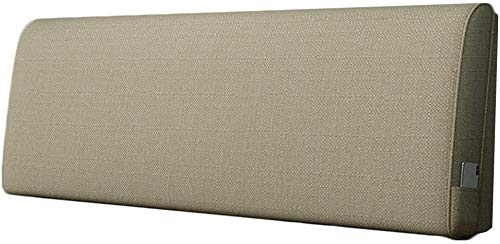 Almohadas de Lectura Cabecera Almohada Fácil Estilo Cama Atrás Cojín Respaldo Flax Funda Suave Salón Cojín Lavable Cabeceros de Cama (Color : F, Size : 180x60x10cm)