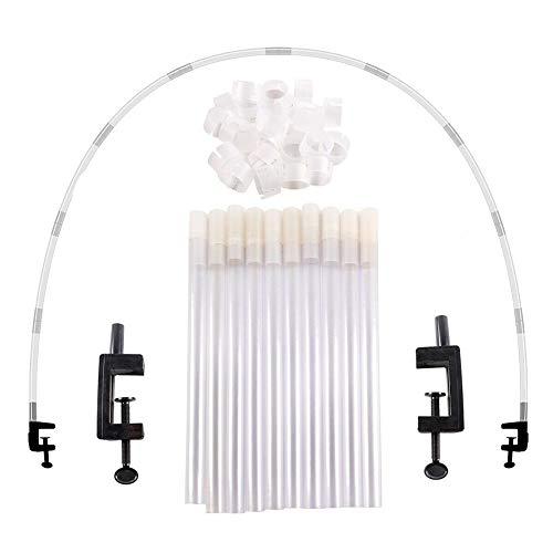 Shubiao Conjunto de arco de globo grande para columna, soporte de clip para marco de cumpleaños, boda, fiesta