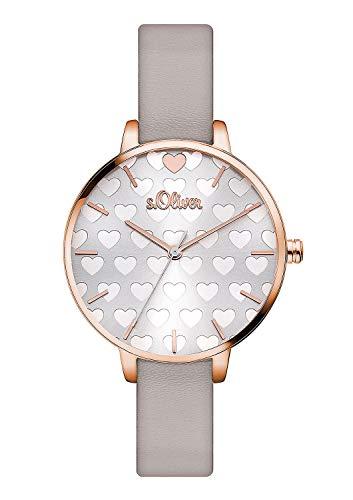 S.Oliver Damen Analog Quarz Armbanduhr SO-3475-LQ
