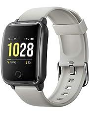 Willful Montre Connectée Femmes Homme Smartwatch Montre Sport Podometre Cardiofrequencemètre Montre Intelligente Etanche Chronometre Alarme GPS Partagé 11 Modes Sport pour iOS Android Telephone
