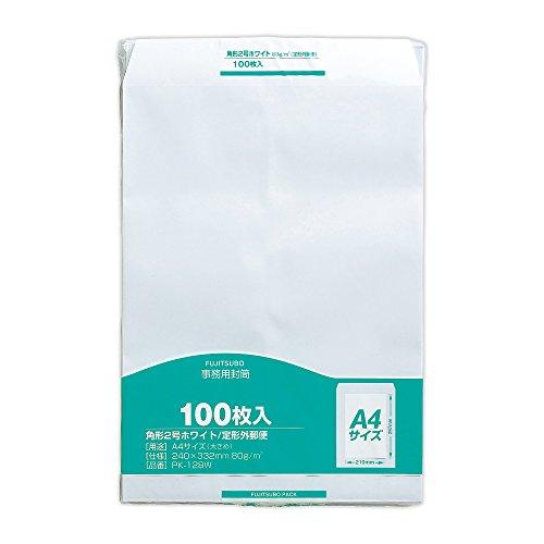 マルアイ 封筒 A4 角形2号 角2 白封筒 ホワイト 100枚 PK-128W