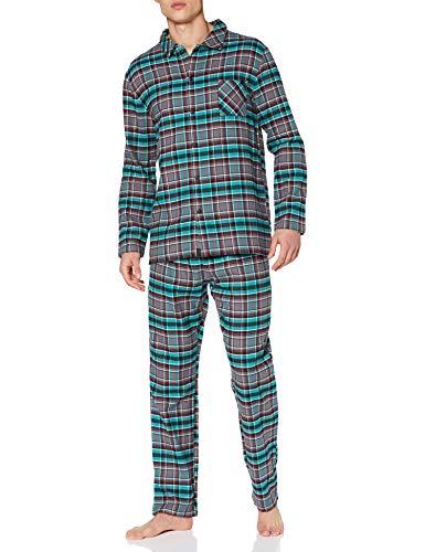 ESPRIT Herren XHANTY NW OCS Pyjama Longsleeve Pyjamaset, Anthracite (010), S