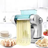 JJSFJH Macchina for la pasta, tagliatella Electric Press Macchina Spaghetti Pasta Maker Commerciale Acciaio inox Dough Cutter Gnocchi Roller Noodles Hanger, multi-funzione di Piccolo Macchina for la p