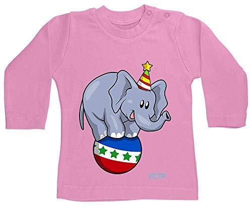 HARIZ Camiseta de manga larga para bebé con diseño de elefante circo, animales de la selva, incluye tarjetas de regalo