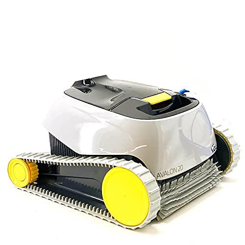 MAYTRONICS Robot Limpiafondos de Piscina Automático - Cubre hasta 10 m - Limpia Fondo y Paredes - Diseño Compacto, Cómodo y Ligero - Accesorios Piscina - Garantía de 2 Años - Dolphin Avalon 20