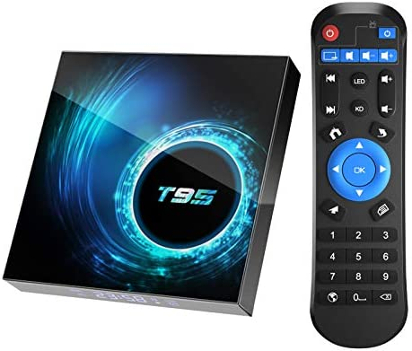 Android 10 0 TV Box T95 4GB RAM 64 ROM Allwinner H616 Quad Core 64 bit ARM Cortex A53 Android product image