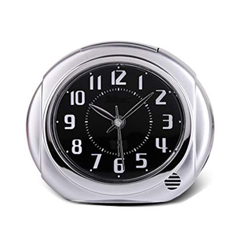 Relojes de mesa para sala de estar Creativo Reloj de alarma silencioso Reloj de alarma minimalista moderno Funciona con batería con luz de fondo Función de despertador Reloj electrónico Reloj de cabec