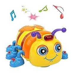 TINOTEEN Musikalisches Babyspielzeug für Kleinkinder im Alter von 1, 2, 3 Jahren, kriechendes und singendes Bienenspielzeug